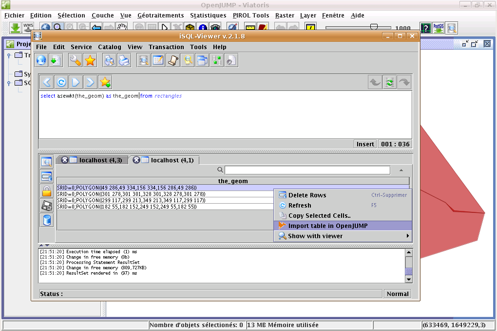 iSQL Viewer for OpenJUMP